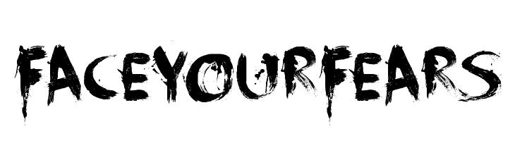 FaceYourFears  Frei Schriftart Herunterladen