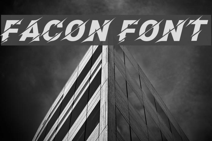 Facon Caratteri examples