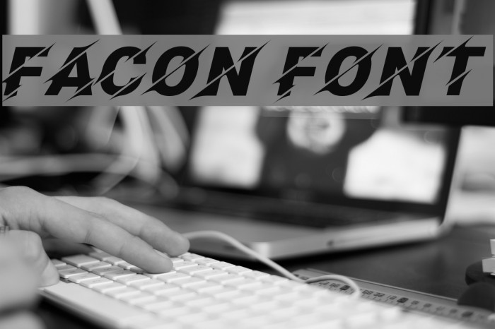 Facon Шрифта examples
