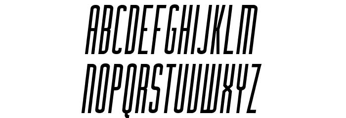 Facunda-Italic Caratteri MAIUSCOLE