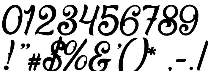 Fadli Script Шрифта ДРУГИЕ символов