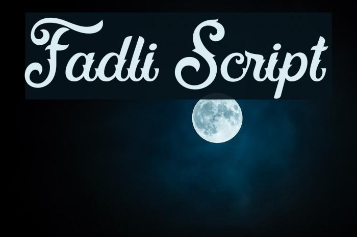 Fadli Script Шрифта examples