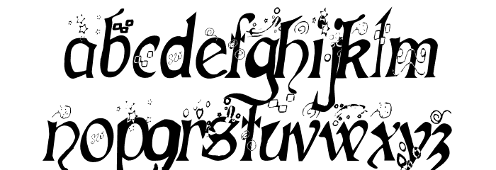 Fairies Gone Wild Italics Font LOWERCASE