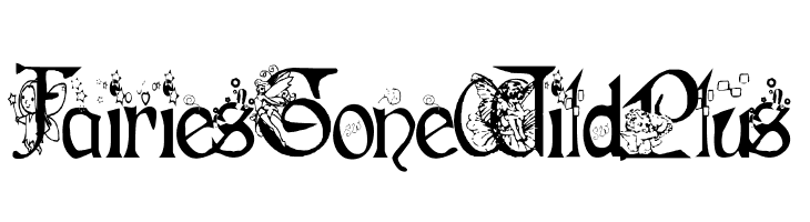 Fairies Gone Wild Plus  Free Fonts Download