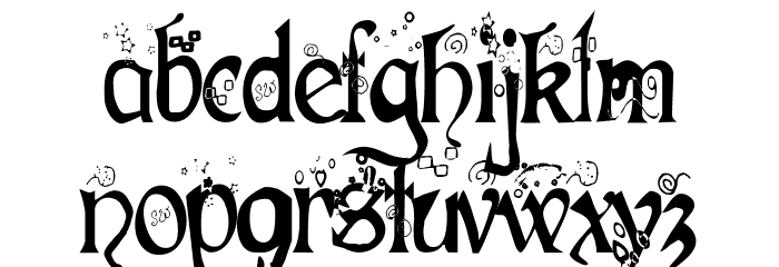 Fairies Gone Wild Semi-Bold Font Litere mici