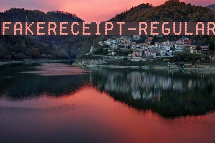 FakeReceipt-Regular Font examples