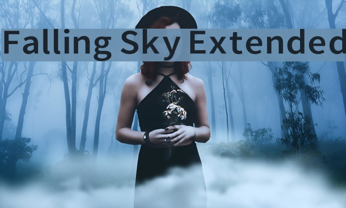 Falling Sky Extended Font examples