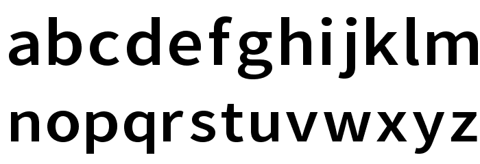 Falling Sky Extended Font LOWERCASE