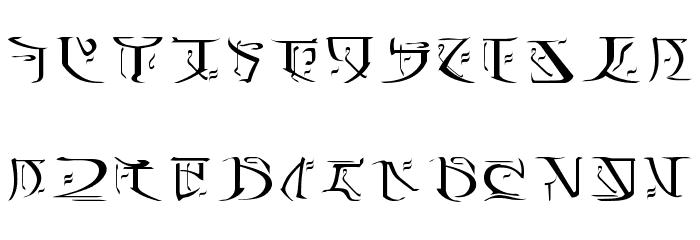 Falmer Font UPPERCASE