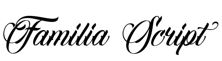 Familia Script  नि: शुल्क फ़ॉन्ट्स डाउनलोड