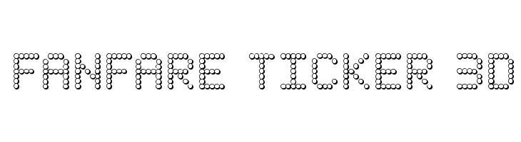 Fanfare Ticker 3D  Free Fonts Download