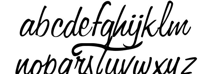 Fangtasia Schriftart Kleinbuchstaben