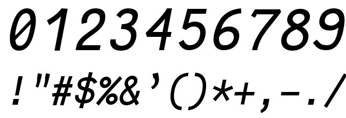Fantasque Sans Mono Italic Schriftart Anderer Schreiben