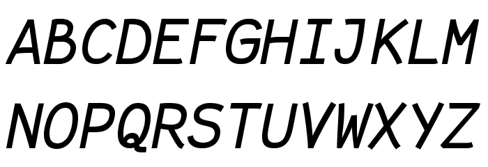 Fantasque Sans Mono Italic Schriftart Groß