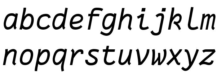 Fantasque Sans Mono Italic Schriftart Kleinbuchstaben