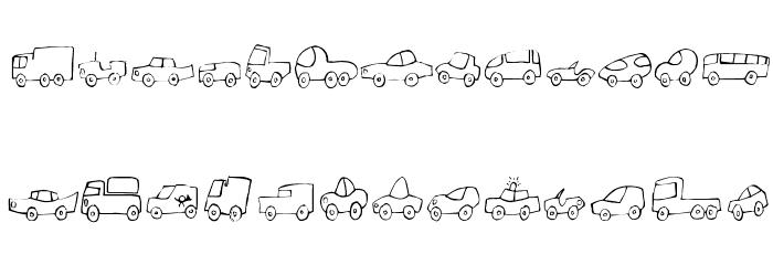 Fantastique Cars फ़ॉन्ट अपरकेस