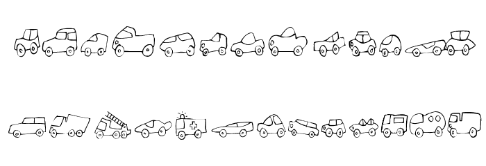 Fantastique Cars फ़ॉन्ट लोअरकेस
