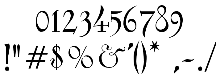 Fantasy One Font OTHER CHARS