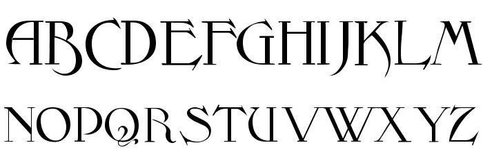 Fantasy One Font UPPERCASE