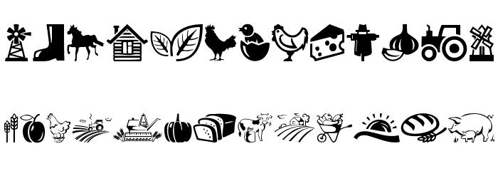 Farm Font UPPERCASE