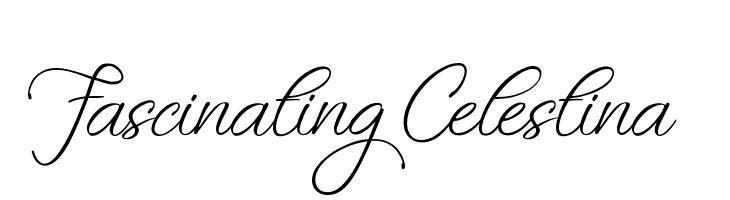 Fascinating Celestina  Free Fonts Download