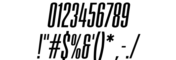 FatCow Italic Font OTHER CHARS