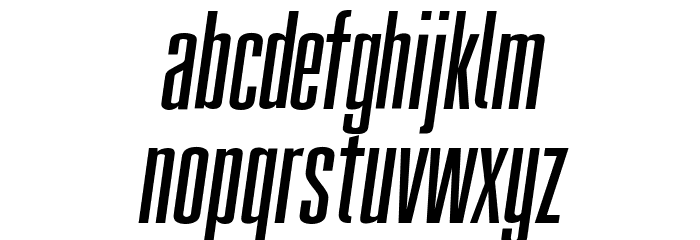 FatCow Italic Font LOWERCASE