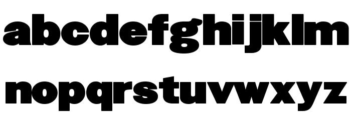 FatSansRound Font LOWERCASE