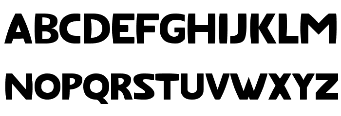 Fatfont Schriftart Kleinbuchstaben