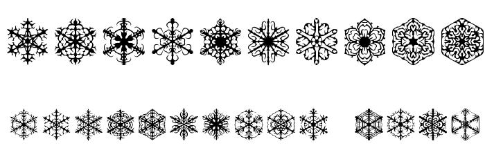 Faux Snow BRK Font Alte caractere