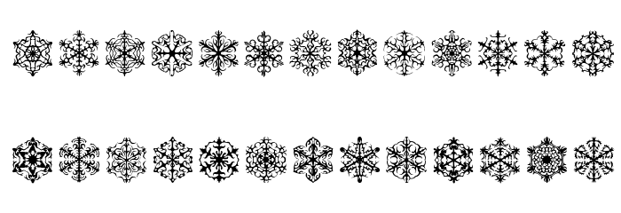 Faux Snow BRK Font Litere mari
