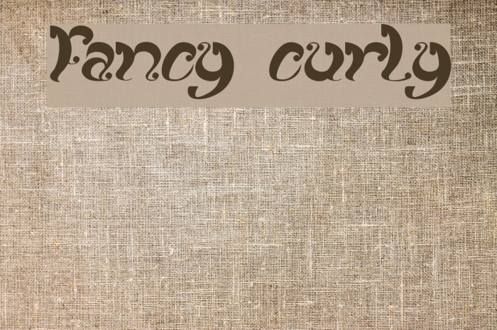 fancy curly Font examples