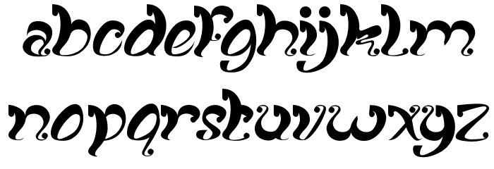 fancy curly Font LOWERCASE