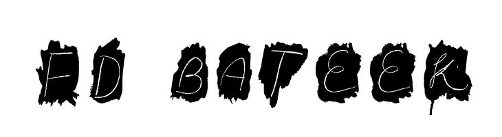 FD Bateek  नि: शुल्क फ़ॉन्ट्स डाउनलोड
