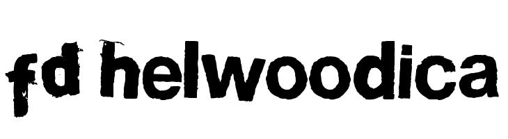FD Helwoodica  フリーフォントのダウンロード