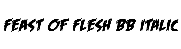 Feast of Flesh BB Italic  لخطوط تنزيل