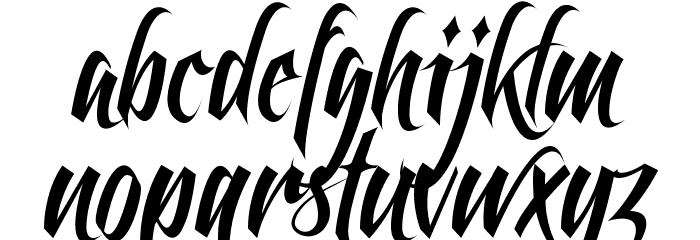 Feathergraphy Clean Font Litere mici