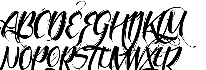 feathery fonts