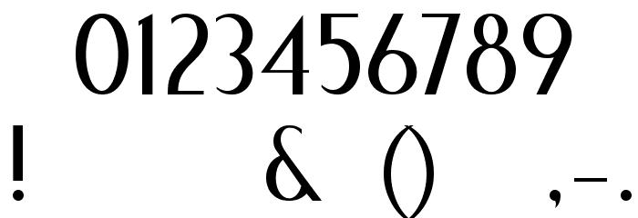 Fecske Шрифта ДРУГИЕ символов