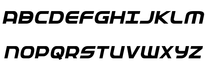 Federal Service Bold Italic Fuentes MAYÚSCULAS
