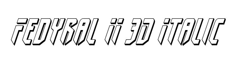Fedyral II 3D Italic  Free Fonts Download