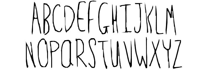 Feeble minded Font Litere mari