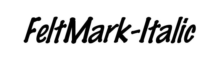 FeltMark-Italic  les polices de caractères gratuit télécharger