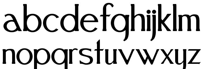 Festival Font LOWERCASE