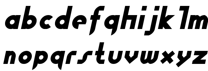 Fewt Bold Italic Font LOWERCASE