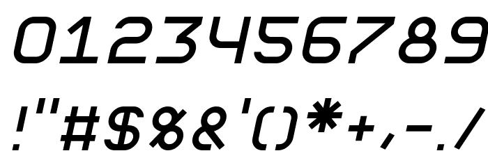 Fewt Slim Italic Font OTHER CHARS