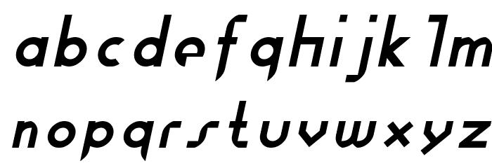 Fewt Slim Italic Font LOWERCASE