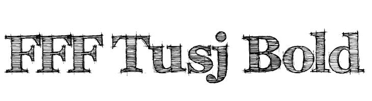 FFF Tusj Bold  Free Fonts Download