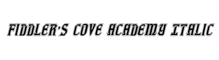Fiddler's Cove Academy Italic  Free Fonts Download