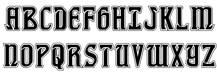 Fiddler's Cove Academy Regular Font UPPERCASE